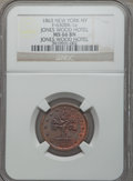 Civil War Merchants, 1863 I. Sommers, Jones Wood Hotel, New York, NY, MS66 Brown NGC.Fuld-NY630BR-1a....