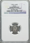 Early Half Dimes, 1795 H10C V-2, LM-3, R.5, -- Improperly Cleaned -- NGC Details.Good. NGC Census: (0/4). Mintage: 78...