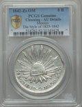 Mexico, Mexico: Republic 8 Reales 1842 Zs-OM AU Details (Cleaned) PCGS,...