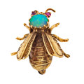 Estate Jewelry:Brooches - Pins, Opal, Ruby, Gold Brooch. ...
