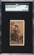 Non-Sport Cards:Singles (Pre-1950), 1886 N167 Old Judge Type 2 Buffalo Bill Cody SGC 30 Good 2 - TheirOnly Graded Example! ...