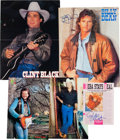 Music Memorabilia:Autographs and Signed Items, 1990s Country Music Superstars Signed Color Photos: Clint Black,Billy Dean, Reba McEntire, Travis Tritt, and Ricky Van Shelto...