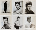Music Memorabilia:Autographs and Signed Items, A Group of Autographed 1950s & 60s Teen Idol Photographs....