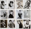 Music Memorabilia:Autographs and Signed Items, Group of Autographed 1950s-60s Pop Artist Publicity Photos....