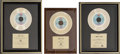 Music Memorabilia:Awards, A Group of 20th Century Records Gold Awards from the 1970s....(Total: 3 Items)