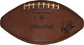 Football Collectibles:Balls, 1970 Super Bowl IV Game Used AFL Football Attributed to Game's Final Touchdown - Signed by Hank Stram....