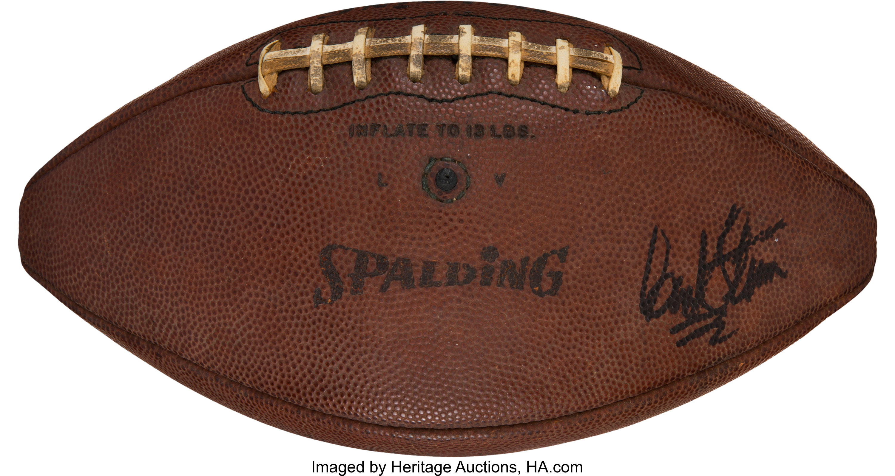 1970 Super Bowl IV Game Used AFL Football Attributed to Game's | Lot
