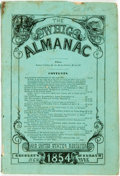Books:Americana & American History, [Almanac]. The Whig Almanac for 1854. New York: Creeley& McElrath, [1854]. ...