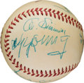 Autographs:Baseballs, 1953 Hall of Famers Multi-Signed Baseball with Cy Young, Ty Cobb....