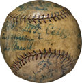 Autographs:Baseballs, 1921 Detroit Tigers Team Signed Baseball....