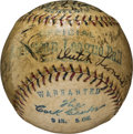 Autographs:Baseballs, 1924 Detroit Tigers Team Signed Baseball with Ty Cobb....