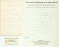 Autographs:Authors, Julia Ward Howe Autograph Letter Signed. One page. Dated March, 5th [no year]. ...
