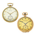 Timepieces:Pocket (post 1900), Hamilton & Illinois Open Face Pocket Watches Runners. ...(Total: 2 Items)