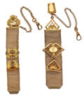 Timepieces:Watch Chains & Fobs, Two Vintage Watch Mesh Fobs With Seals. ... (Total: 2 Items)