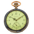 Timepieces:Pocket (post 1900), Galt & Bros. Silver & Enamel Sterling Pocket Watch. ...