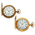 Timepieces:Pocket (post 1900), Seth Thomas & Columbia Hunter's Case Pocket Watches Runners.... (Total: 2 Items)