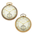 Timepieces:Pocket (post 1900), Two Bulova 12 Size Pocket Watches Runners. ... (Total: 2 Items)