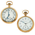 Timepieces:Pocket (post 1900), Waltham Crescent St. & P.J. Smith Co. Pocket Watches Runners.... (Total: 2 Items)