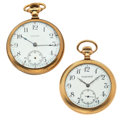Timepieces:Pocket (post 1900), Waltham & Milton Kohler Pocket Watches Runners. ... (Total: 2 Items)