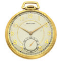 Timepieces:Pocket (post 1900), Hamilton 17 Jewel Series 917 Open Face Pocket Watch. ...