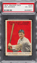 Baseball Cards:Singles (Pre-1930), 1914 Cracker Jack Joe Jackson #103 PSA VG-EX 4....