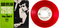"Music Memorabilia:Recordings, Bob Dylan ""Positively 4th Street"" Double A-Side Red Vinyl DJ Copy(Columbia 4-43389, 1965)..."
