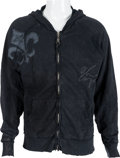 Music Memorabilia:Autographs and Signed Items, Alice Cooper Signed Hoodie Sweatshirt (2000s)....