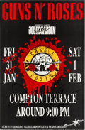 Music Memorabilia:Autographs and Signed Items, Guns N' Roses Signed Tour Poster, 1992....