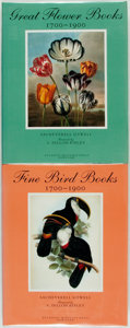 Books:Art & Architecture, Sacheverell Sitwell. Fine Bird Books, 1700-1900. [and:] Great Flower Books. New York: Atlantic Monthly Press... (Total: 2 Items)