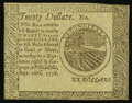 Colonial Notes:Continental Congress Issues, Continental Currency September 26, 1778 $20 Blue CounterfeitDetector Choice New.. ...