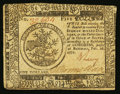 Colonial Notes:Continental Congress Issues, Continental Currency February 26, 1777 $5 Extremely Fine.. ...