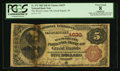 National Bank Notes:Wisconsin, Grand Rapids, WI - $5 1882 Brown Back Fr. 472 The Wood County NB Ch. # 4639. ...