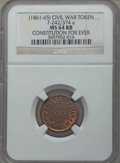 Civil War Tokens, (1861-65) Civil War Token, Constitution For Ever, F-242/374a, MS64RB NGC....