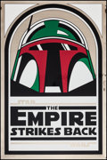 "Movie Posters:Science Fiction, The Empire Strikes Back (Kilian Enterprises, R-1995). 15thAnniversary Gold Mylar One Sheet (27"" X 41"") Boba Fett Style A.S..."