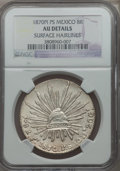 Mexico, Mexico: Republic 8 Reales 1870 Pi-PS AU Details (Surface Hairlines)NGC,...