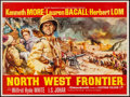 "Movie Posters:Adventure, Flame Over India (Rank, 1960). British Quad (30"" X 40""). Adventure.UK Title: North West Frontier.. ..."