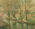 Fine Art - Painting, American:Antique  (Pre 1900), ERNEST LAWSON (American, 1873-1939). Bathers. Oil on canvas.24-3/4 x 29-3/4 inches (62.9 x 75.6 cm). Signed lower left:...