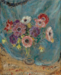 Paintings, Frederick Carl Frieseke (American, 1874-1939). Floral Still Life. Oil on canvas. 24 x 19-3/4 inches (61.0 x 50.2 cm). Si...