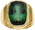 Estate Jewelry:Rings, Gentleman's Tourmaline, Gold Ring. ...