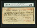 Colonial Notes:Continental Congress Issues, Continental Loan Office Bill of Exchange Fourth Bill- $24 Feb. 19,1782 Anderson US-96/CT-1C. PMG Very Fine 30.. ...