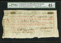 Colonial Notes:Continental Congress Issues, Continental Loan Office Bill of Exchange Fourth Bill- $300 Sept.26, 1780 Anderson US-101/MA-5A. PMG Choice Extremely Fine 45 ...