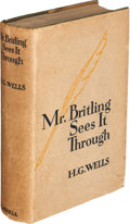 Books:Literature 1900-up, H. G. Wells. Mr. Britling Sees It Through. London: Cassell and Company, [1916]....