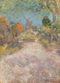 Fine Art - Painting, American:Antique  (Pre 1900), JOHN HENRY TWACHTMAN (American, 1853-1902). The Back Road,circa 1890s. Oil on canvas. 30 x 22 inches (76.2 x 55.9 cm). ...