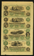 Obsoletes By State:Florida, Tallahassee, FL- Tallahassee Rail Road Company $1-$1-$2-$3 Freeman 76-76-78-80 Benice 109-109-111-113 Uncut Sheet. ...