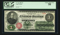 Fr. 16c $1 1862 Legal Tender PCGS Choice About New 58