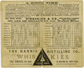 Baseball Collectibles:Others, 1884 New York Gothams vs. Chicago White Stockings Scorecard. The original Polo Grounds, positioned at the northern edge of ...