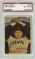 Baseball Cards:Singles (1950-1959), 1957 Topps Max Surkont #310 PSA NM-MT 8. Wonderful centering andfour sharp corners make it easy to see why this 50-year-ol...