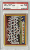 Baseball Cards:Singles (1950-1959), 1957 Topps White Sox Team #329 PSA NM-MT 8. High-grade team card from the '57 Topps set seen here rates better than all but...
