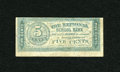 Miscellaneous:Other, Unknown Location- National School Bank 5¢ circa late 1800s. ...