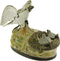 Antiques:Toys, Eagle and Eaglets Mechanical Bank...
